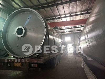 辽宁油泥热解设备发货400x300.3