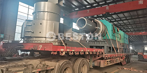 BST-100炭化设备发往江苏